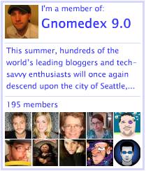 My Gnomedex 9.0 badge