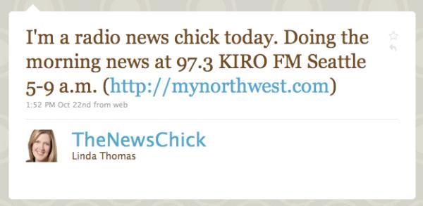 Linda Thomas' Twitter page.