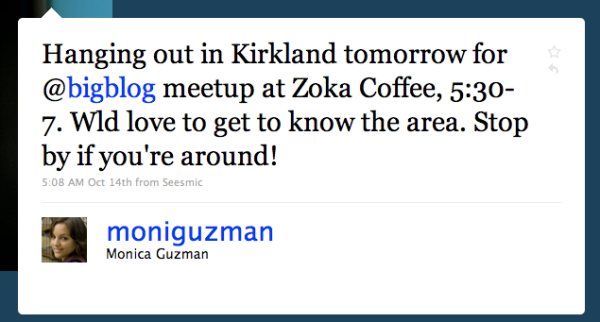 Mónica Guzmán's Twitter page